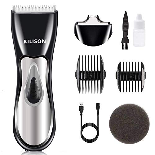 Kilison Cordless Hair Clippers, Rechargeable Cordless Beard Trimmer, Hair Trimmer with 2 Heads, Electric Waterproof Hair Cutting Kit for Men Women Children