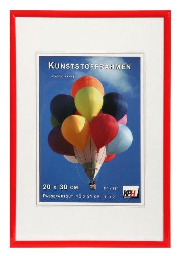*** New Lifestyle Kunststoff Bilderrahmen ***: Farbe: Rot | Format: 21x29,7 (DIN A4)