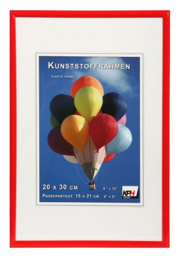 *** New Lifestyle Kunststoff Bilderrahmen ***: Farbe: Rot | Format: 21x29,7 (DIN A4)