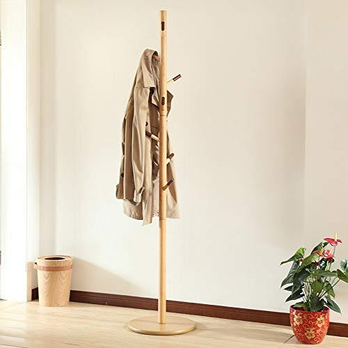 Kapstok creatieve kledingstandaard eenvoudige houten hangers vloer slaapkamer ophangsysteem huishouden eenvoudige kleding plank afmetingen: H: 1800mm natuur bruin koffie 8 haken A ++ (kleur: D) A
