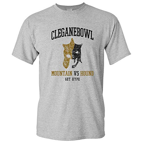 Cleganebowl - Get Hype Mountain Hound Rivalry Westeros T Shirt - 2X-Large - Sport Grey