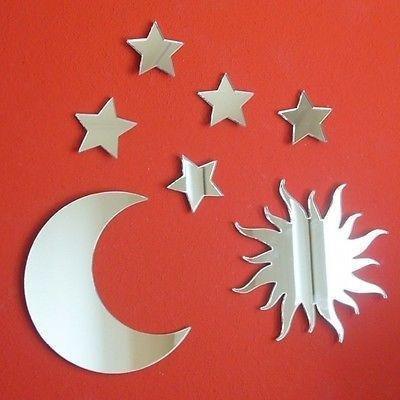 Servewell Sun, Moon and Stars Mirror Bundle