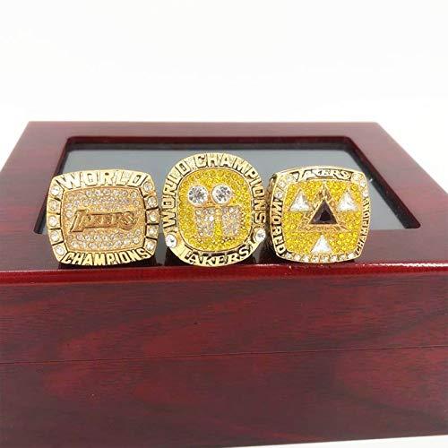 FGRGH - Anillo de campeonato de Los Angeles Laker Big Shark O'neal Championship 3 piezas, para fans de recuerdo colección de hombres de regalo con caja