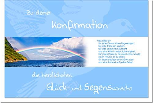 metALUm Karte zur Konfirmation REGENBOGEN   1012036S