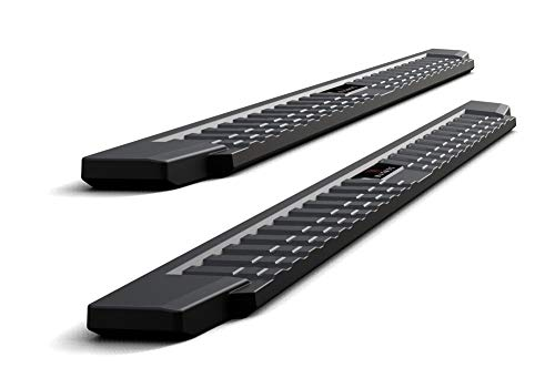 APS Auto Black Blow Molding Style Nerf Bars Running Boards Compatible with 2007-2020 Tundra CrewMax Pickup 4-Door