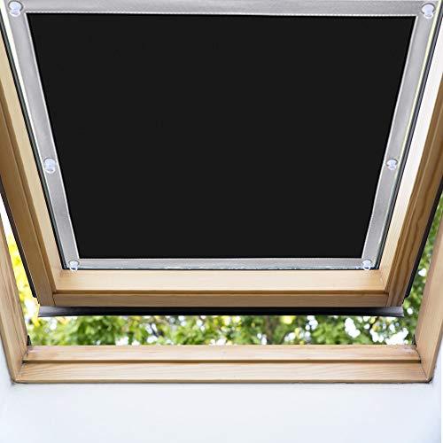 EXTSUD Thermo Sonnenschutz für Dachfenster | UV Schutz | Einfache Instalation | Verdunklungsrollo Rollo kompatibel mit Velux and Roto Fenstern, Sonnenschutz, Hitzereduktion (76 * 78cm)
