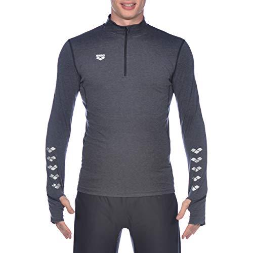 Arena M Thermal H/Z Long Sleeve Camiseta Térmica De Manga Larga Hombre, Black Melange, S