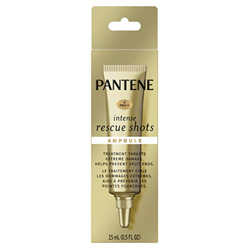 Pantene Pro-v Intense Rescue Shots Hair Ampoule for Intensive Repair Of Damaged Hair, 0.5 Fluid Ounce