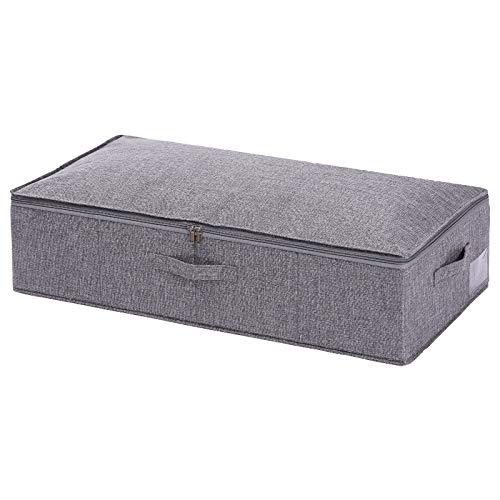 Haudang - Cajas de almacenamiento debajo de la cama con tapas, organizador de zapatos debajo de la cama, ático, bolsa de almacenamiento para debajo de la cama L