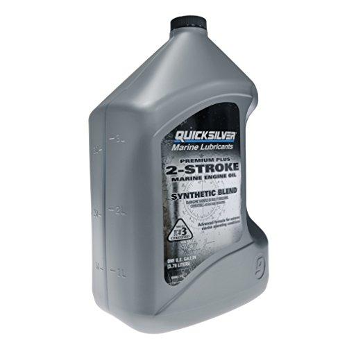 QuickSilver 27Q01 Premium Plus 2-Cycle Outboard Oil - , Gray, 1 Gallon (128 Ounces)