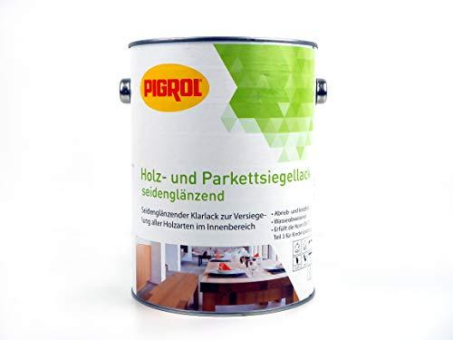 PIGROL Holz und Parkettsigellack Seidenglänzender Holzlack Klarlack 2,5 Liter