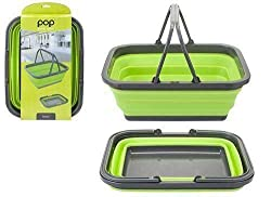 Space saving design Dimensions: 38 x 28.5 x 16cm , Capacity: 8.5 litres washing bowl when camping as storage or as a shopping basket.