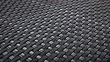 EXCOLO Rattan Balkon-Sichtschutz 90cm Höhe, 100% Blickdicht, ca. 4mm dick in anthrazit, grau,...