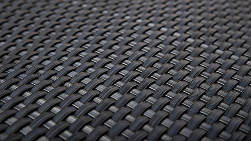 EXCOLO Rattan Balkon-Sichtschutz 90cm Höhe, 100% Blickdicht, ca. 4mm dick in anthrazit, grau, dunkelgrau wie RAL 7016 Sichtschutz Sichtblende Balkonverkleidung Balkonbespannung Blickdicht
