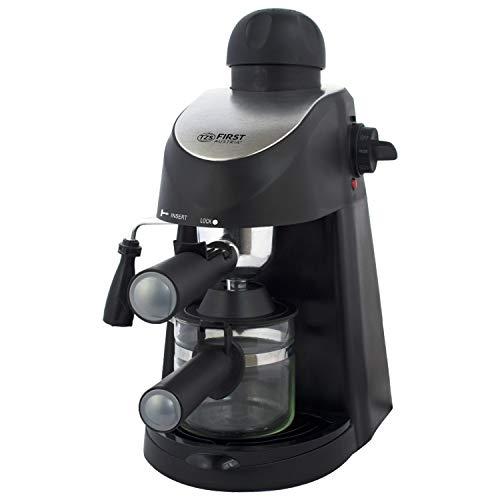 3,5 bar Siebträger Espressomaschine elektrisch, Espresso-Kocher mit Glaskanne und Milchdüse, Abstellfläche für Tassen