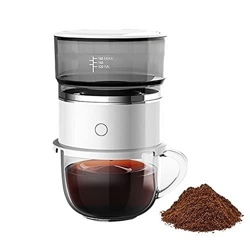 Mini ekspres do kawy przelewowy, półautomatyczny ekspres do kawy z filtrem stałym, kompaktowy ekspres do kawy z kroplówką do biura Home Travel Camping