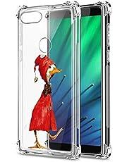 Suhctup Compatible con Xiaomi Redmi Note 9 Pro Funda para Silicona con Dibujos Animados Diseño Cárcasa Ultra-Fina Transparente Suave TPU Choque Cojín de Esquina Parachoque Caso-Pato