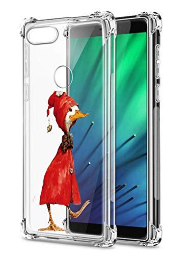Oihxse Funda Compatible con Xiaomi Redmi Note 9 / Xiaomi Redmi 10X 4G Ultra Delgada Ligera Transparente Silicona TPU Gel Suave Carcasa Elegante Patrón Anti-Rasguño Protector Caso-Pato