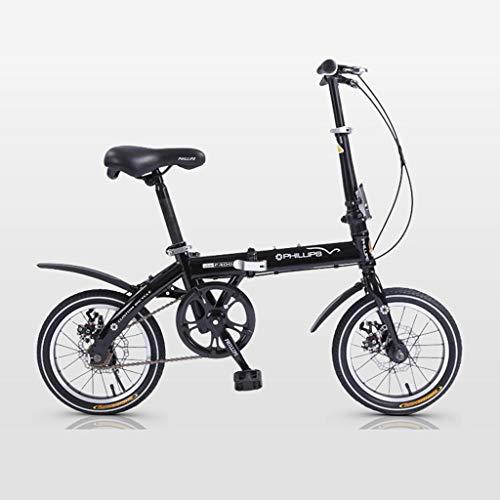 BIKESJN 14 Zoll Faltrad Leichtes Fahrrad Kinder Rennrad Erwachsene City Bike Mini Fahrrad Hohe Tragfähigkeit