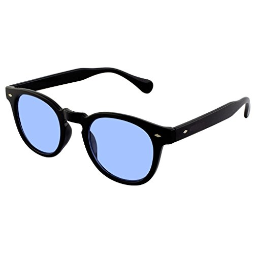 KISS Gafas de sol estilo MOSCOT mod. DEPP Smoked Gradient - VINTAGE Johnny Depp hombre mujer CULT unisex - NEGRO/Azul
