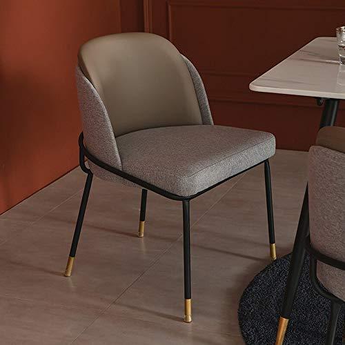 Liergou Silla del Comedor Cuero de Comedor nórdica Salón Moderno Simple Montaje de café adecuados Home Hotel Restaurante (Color : Khaki, Size : 55x55x78cm)