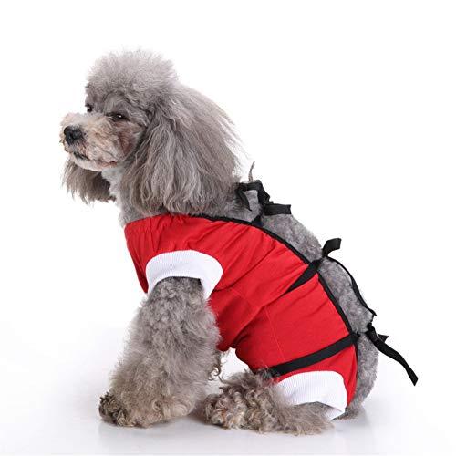 PLUS PO Hundebody op Body für Hunde Chirurgische Weste für Hunde Medizinisches Haustierhemd klein Katzenmäntel für Haustiere Dog Recovery Suits red,xs