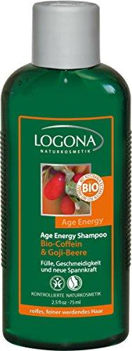 logona: Age Energy Champú Bio de cafeína Goji Bayas: Tamaño: Conocer Aprendizaje tamaño/Viaje Tamaño (75ml)
