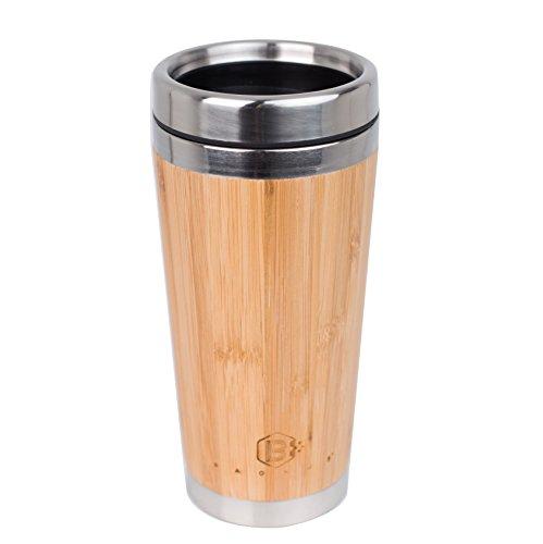 BAONUS Original Bamboo Stainless Steel Bottle Coffee Mug Insulated Bamboo Travel Tumbler Eco-friendly Tea Cup flask 16oz