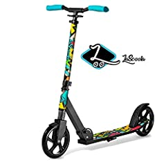 A MIX OF SAFETY AND MODERN FEATURES: Keeping everyone's safety in mind, our light weight kick scooter allows you to cruise with ease with its non-slip, weight absorbing, and extra wide deck that ensures a secure footing and comfortable ride. It is co...