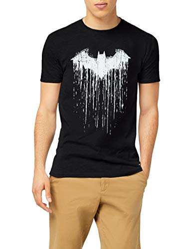 DC Comics Herren Batman Paint T-Shirt, Schwarz, L
