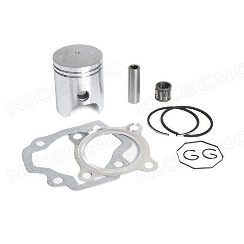NICECNC 40mm Piston Ring Kit Gasket Wrist Pin Bearing Set for YAMAHA PW50 1979-2009