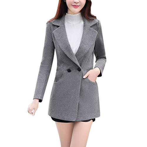 Brizz Zakelijke vrijetijdskleding, klein pak, windjack dames licht, winter vrouwen normale lak print outwear halskettingen zakken wollen jas lange mouwen mantel