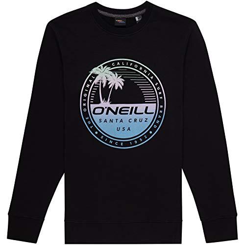 O\'Neill Herren LM Palm Island Crew Sweatshirt, Schwarz (Black Out), L