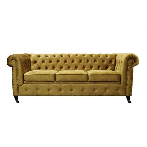 JVmoebel Chesterfield Design Big XXL - Sofá cama (acolchado)