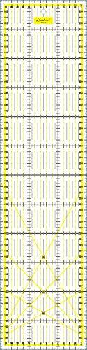 Kadusi Regla para Patchwork 15x60 centímetros Transparente y milimetrada
