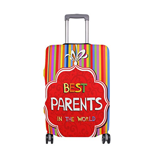 Happy Parents Day Best Mother Father Suitcase Luggage Cover Protector for Travel Kids Men Women