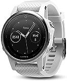 Garmin 010-01685-00 Fenix 5S Multi Sport Reloj GPS con navegación al aire libre y muñeca basierter ritmo cardíaco plata, pulsera blanca (renovado)