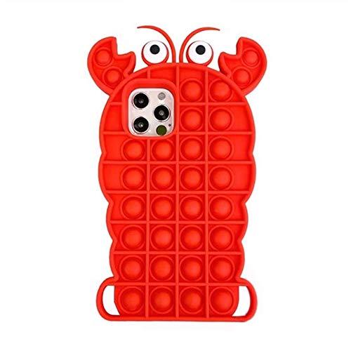 Funda de burbuja simple para iPhone 6 Plus/6S Plus, funda para aliviar el estrés Pop Fidget juguetes Push It Bubble para antiestrés cubierta adultos niños, regalos simples para todas las edades