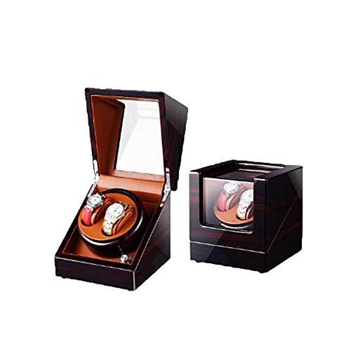 Enrollador De Reloj para Relojes Automáticos Almacenamiento De Cuero 5 Modos Motor Silencioso De Lujo Pintura De Piano Brillo Negro 2 Modos De Fuente De Alimentación