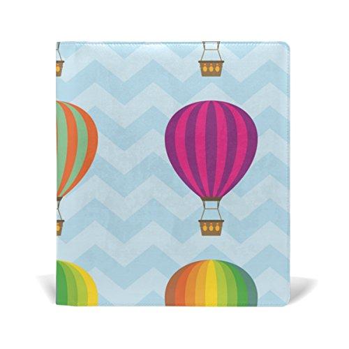 COOSUN Hot Air ballonnen boek Sox Stretchable Book Cover, Past op de meeste Hardcover leerboeken tot 9 x 11. Lijm-vrij, Pu lederen schoolboek beschermer