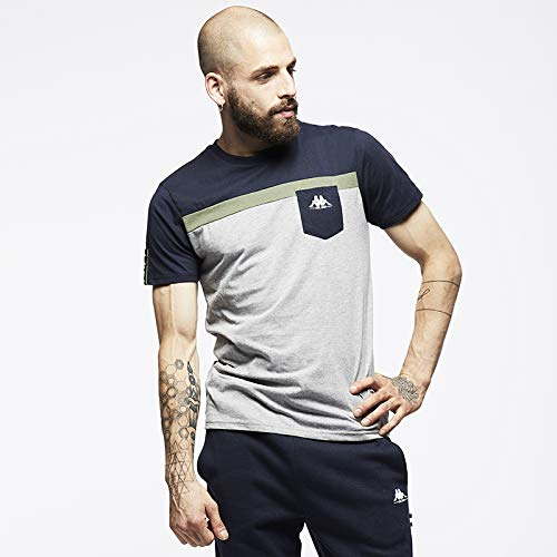Kappa YERRI T-Shirt & Polo Donne Beige/Grigio - L - T-Shirt Maniche Corte