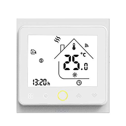 Termostato inteligente KKmoon ZigBee Controlador de temperatura programable ZigBee Hub requerido Smart Life Tuya APP Control remoto Compatible con Alexa Google Home Voice Control opcional