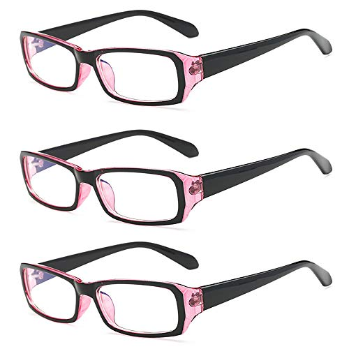 Rongchy 3 PRS Nearsighted Eyeglasses Mens Womens Shortsighted Eyewear Classic Style Myopia Glasses -0.5 to -4.00 Strength
