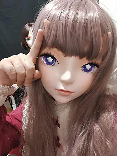 KuKu Comic Resin BJD Cosplay Anime Full Head Kigurumi Doll Mask (full head)