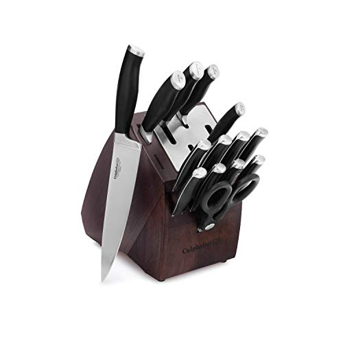 Calphalon Contemporary Self-Sharpening 15-Piece Knife Block Set with SharpIN Technology, Black/Silver