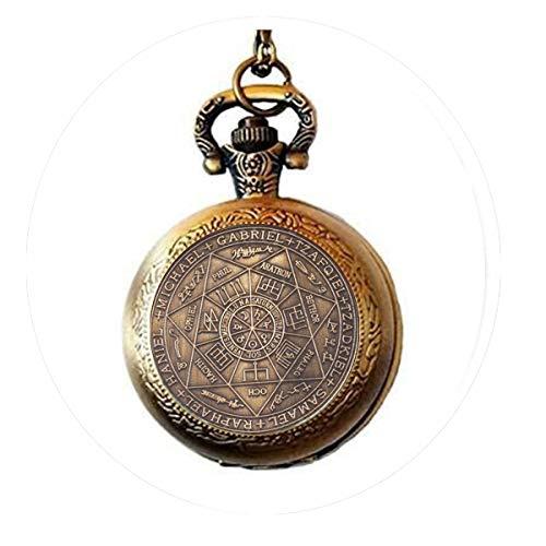 Asterion Seal of the Seven Erzengel von Asterion Seal Solomon Kabbalah Amulett Taschenuhr Halskette