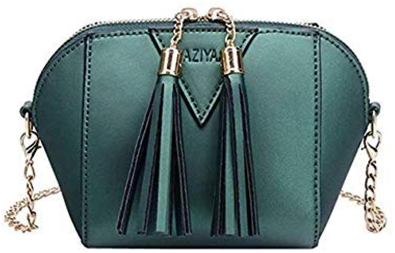 Bloomerang MOLAVE Handbag Bag Female Solid Bags for Girls Zipper Women Fashion Handbag Tassel Shoulder Bag Small Tote Ladies Purse Jul10 color Green