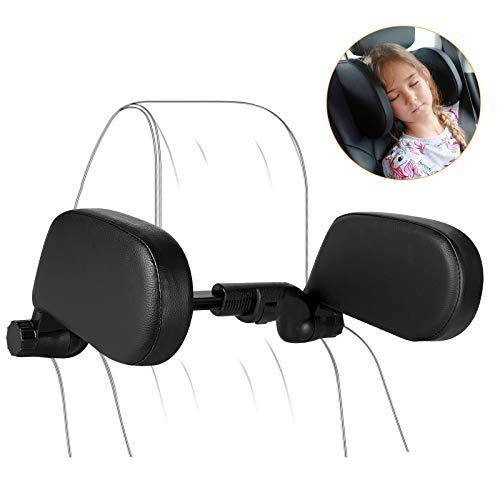 Car Seat Headrest Pillow, Car Neck Head Pillow Support Detachable, Travel Sleeping Cushion Car Seat Pillow, 360 Degree Adjustable Car Side Pillow for Kids Adults Elders Neck Head Shoulder, Black