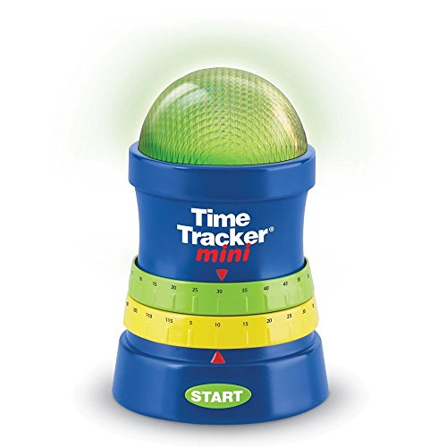 Learning Resources Time Tracker Mini Visual Timer, Classroom Timer, Hand Washing Timer, Auditory and Visual Cue, Ages 3+