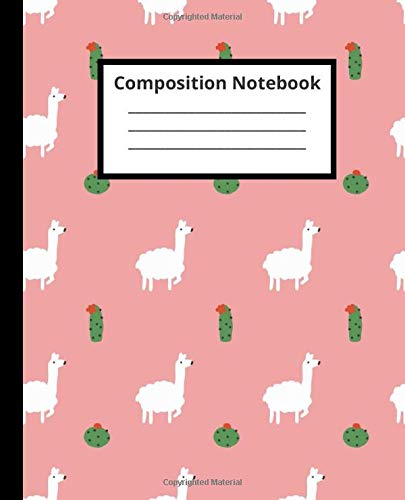 Lama Composition Notebook: Cute Lama Wide Ruled Notebook for Kids, Girls & Teens - Animal Lover Journal with Lines: Notebook for School Work, Writing, Journaling